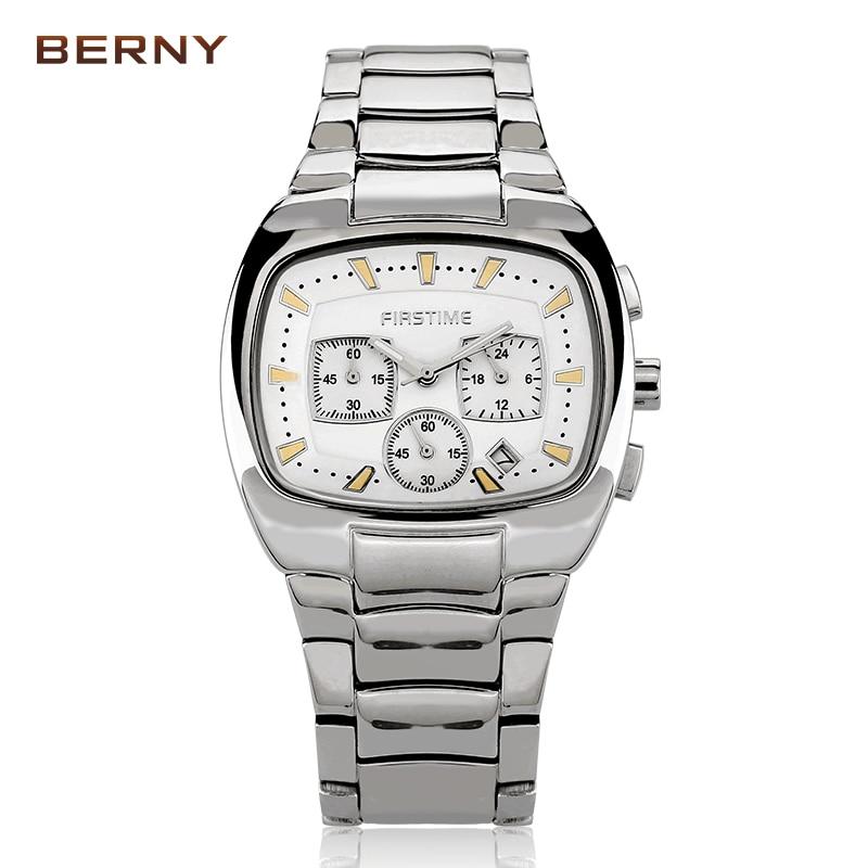 Berny hommes Montre Quartz hommes montres haut tendance marque de luxe Relogio Saat Montre Horloge Masculino Erkek Hombre japon mouvement-in Montres à quartz from Montres    1