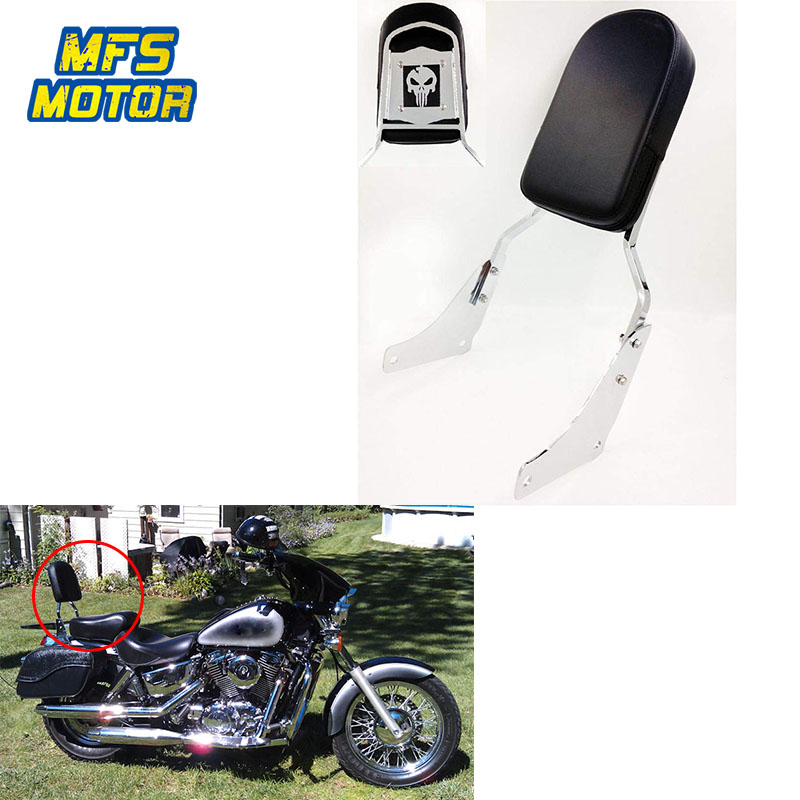 XMT-MOTO Detachable Backrest Sissy Bar Pad For Harley Road King Elelctra Glide 2009-2018