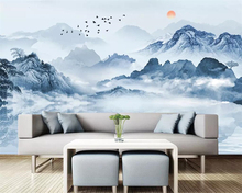 beibehang Hand-painted landscape mural wallpaper home decoration 3d living room bedroom TV background reception hall decoration free shipping 3d stereo hand painted flower wall painting wallpaper sitting room hall bedroom corridor mural