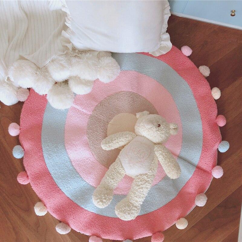 Lent arbre bébé chambre tapis bande dessinée anti-dérapant tapis diamètre 90 CM chambre tapis enfants tapis de jeu