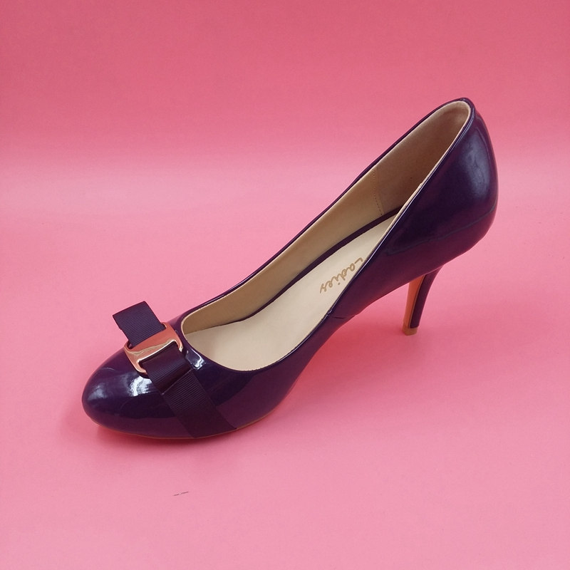 Navy Blue Patent Leather Round Toe Women Pumps Low Heels Bowknot Front Slip-on Ladies Pump Shoes OL Pump Spring Style Real Photo londa очищающий шампунь для жирных волос purifying shampoo 250 мл