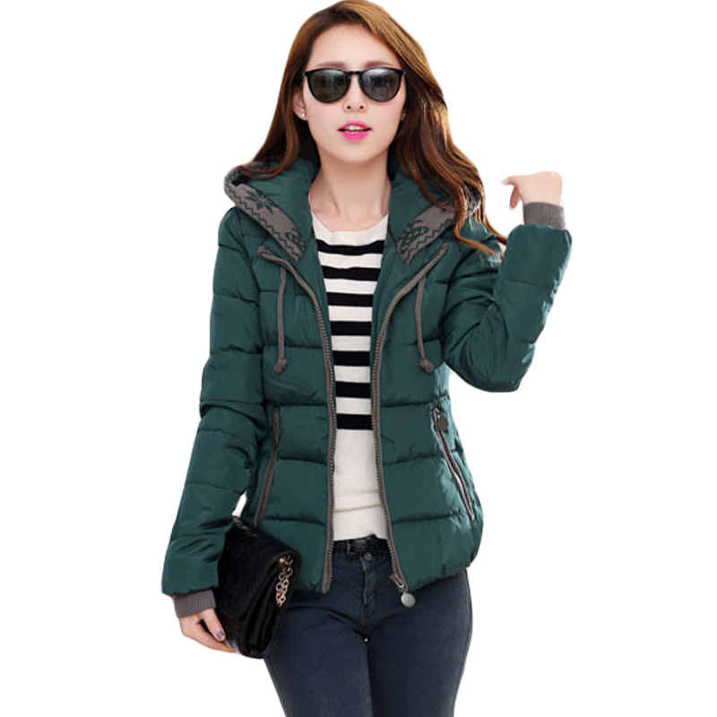 Womens Short Jackets Coats 2017 Adjustable Neck Cotton Padded   Parka   For Women's Winter Jacket Female Manteau Femme Abrigos XH501