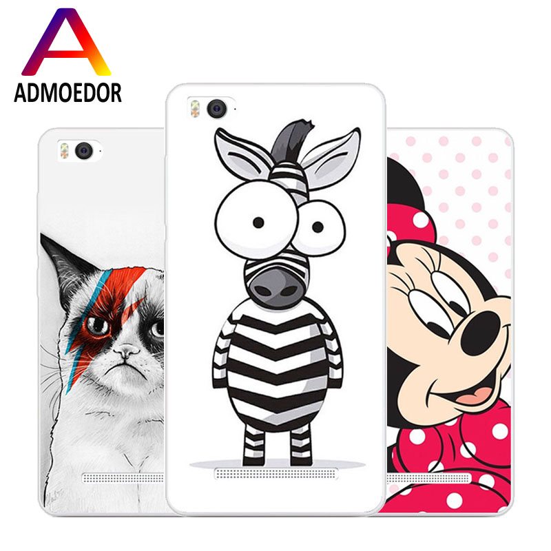 xiaomi mi4i mi4c Case,Silicon beautiful Cartoon Animal Painting TPU Back Cover for xiaomi mi 4i mi 4c Phone protect Bags shell