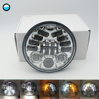 1 piece 5.75 Inch Daymaker 5 3/4 70W H/L LED Headlight For Harley Davidson Softail Dyna And Sportster Models.