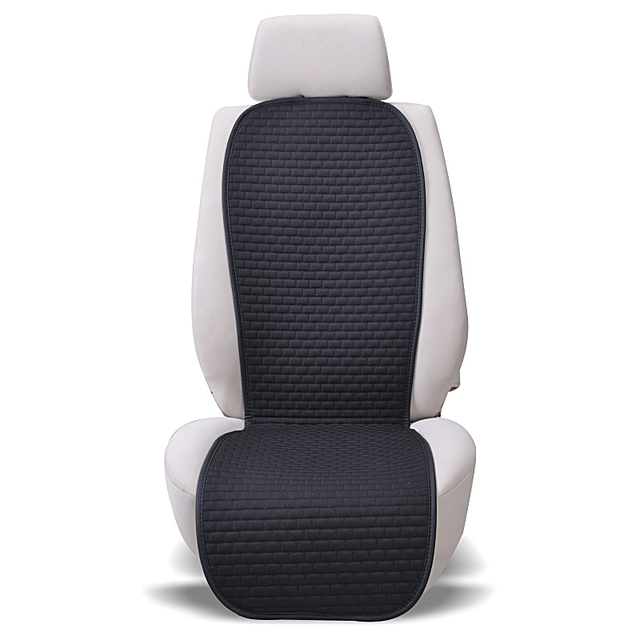 Car Seat Cover Universal Cool Summer Cushion Auto Linen Fabric Seat Covers Protector Interior Accessories 8 Colors