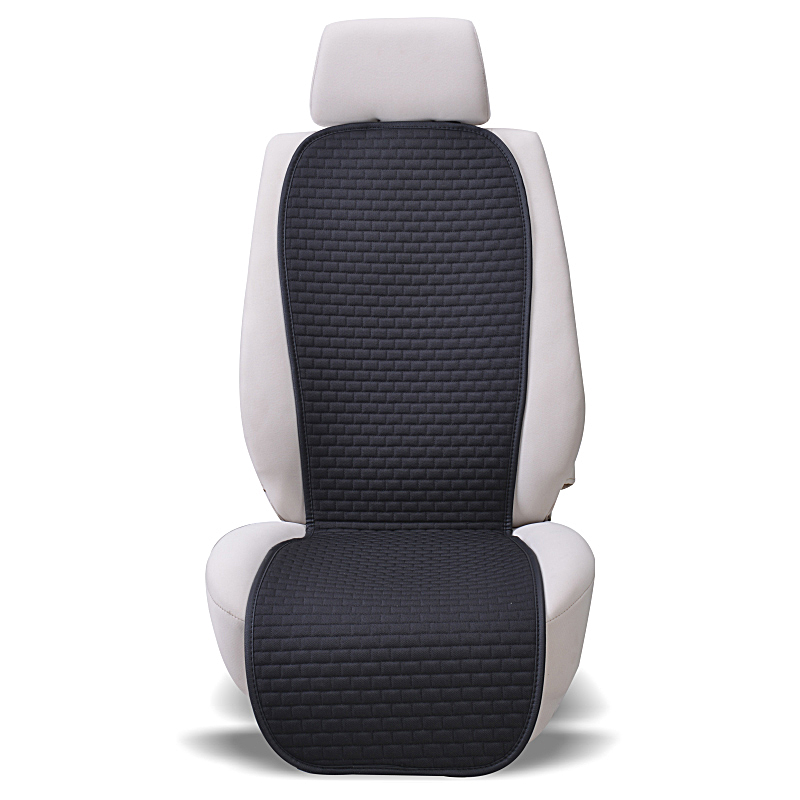 Car Seat Cover Universal Cool Summer Cushion Auto Linen Fabric Seat Covers Protector font b Interior