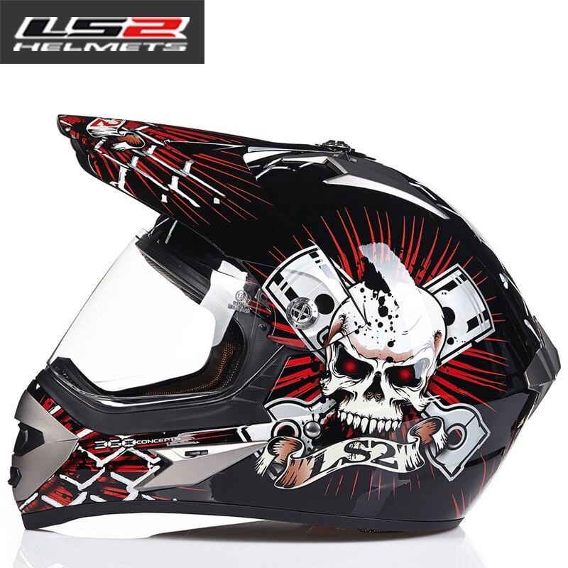 LS2 MX433 внедорожный мотоциклетный шлем с ветрозащитным щитом мотокросса шлемы костюм для мужчин и женщин одобренный ECE - Цвет: 4