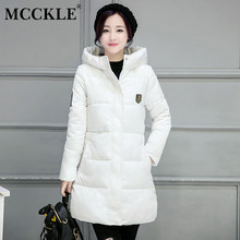 MCCKLE 2018 Women Winter Hooded Warm Jacket Cotton Padded Long Parkas Outerwear Candy Color Female Thicken Coat Plus Size 3XL(China)