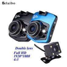 Internacional GT300 Original Novatek 2 lente Del DVR Del Coche 1080 P de Doble Cámara Grabadora de Vídeo Con Cámara Trasera Dash Cam BlackBox