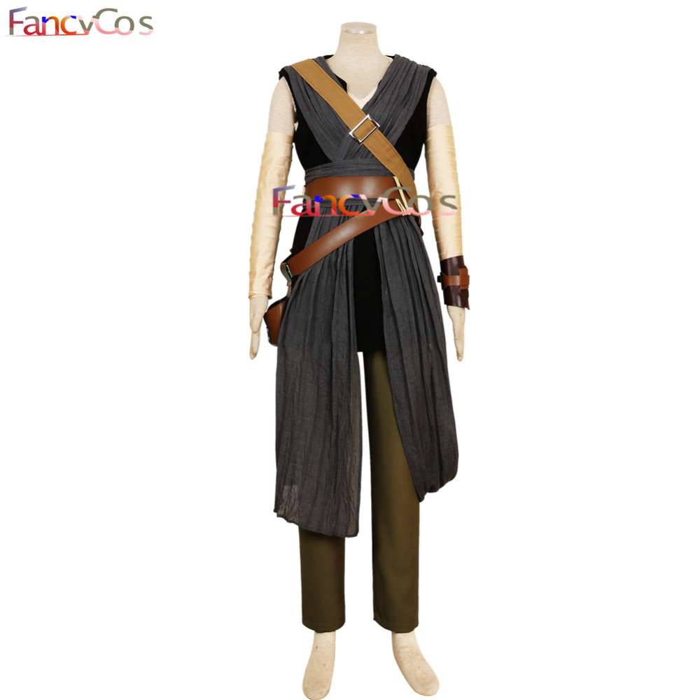 Halloween  Star Wars: The Last Jedi Rey Dress Bag Belt Fancy Costume Cosplay Adult High Quality Deluxe High Quality Custom Made