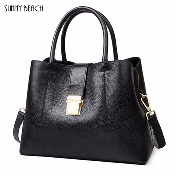 new Genuine Leather women bag large capacity shoulder bag Casual Bags Handbags Real Cow Leather bag