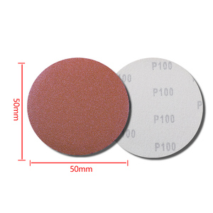 Image 5 - 100 Pcs Schuren Pad Polijsten Sander Disc 50 Mm 60 2000 Grit Papier + 1 Pc Haak Lus Plaat fit Dremel 4000 Elektrische Grinder Schurende