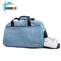 Women Gym Bag Training Fitness Bag Male Female Waterproof Fitness Durable Handbag Outdoor Tote Yoga Sport Bag with Shoes Pocket