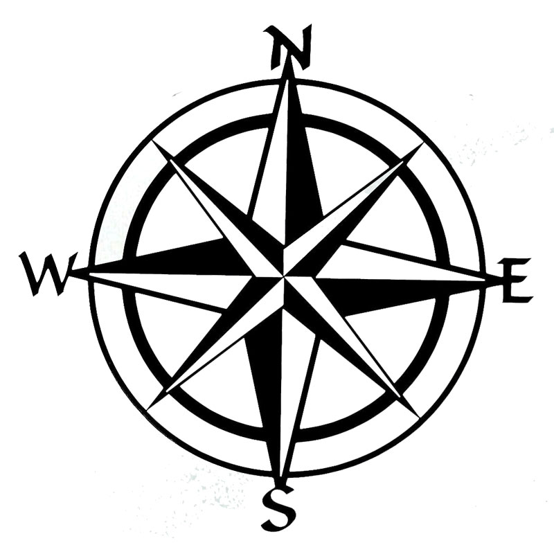 15cm*15cm Car Styling Compass Travel Wanderlust Direction NSWE Car Stickers C5-1956 15