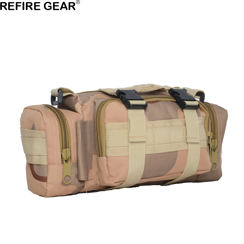 Refire Gear Outdoor Travel Camouflage Bag Multi-function Hiking Fishing Waist Bag Nylon  ...