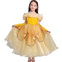 Belle Dress for Kids Costume Rapunzel Party Wedding Dress Costume Kids Girls Princess Dress Belle Sleeping Beauty Aurora Costume