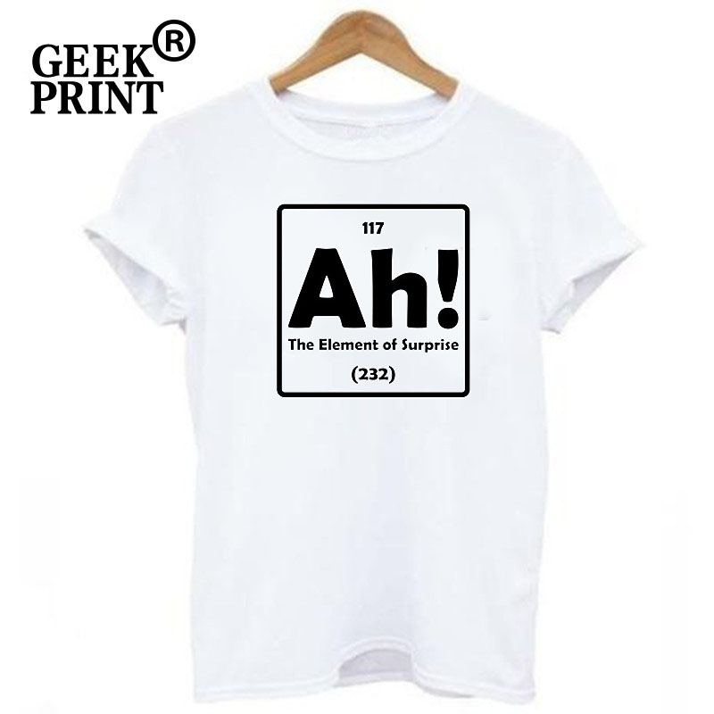 2edbdc2f688be4 Women Tops Ah The Element Of Surprise Funny Lady T Shirt Science Periodic  Table Nerd Tee Humor Tshirts S 3XL-in T-Shirts from Women's Clothing on ...