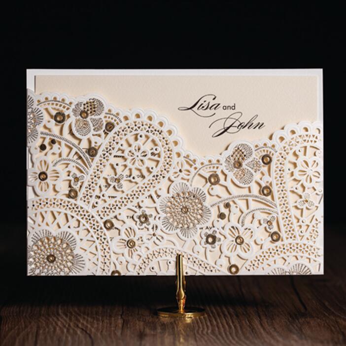 Unique Laser Cut Arabic Wedding Birthday Invitations Cards