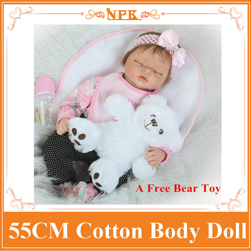 High End Quality 55cm 22'' Angela Doll Made By Silicone Limbs And PP Cotton Body Adora Doll For Children As Best Christmas Gift
