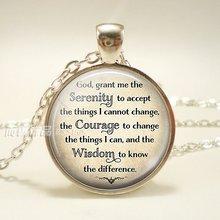 Мода Бог вдохновляющая Цитата Длинная цепочка Ожерелье «Молитва