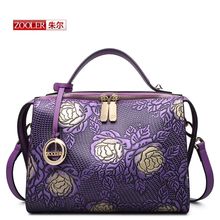 HOT ZOOLER women leather bag famous brands genuine leather bag high end embossed women bag 2016 new fashion shoulder bags #6188