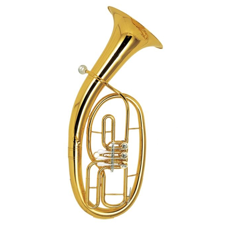 Bb Baritone Three Valves Lacquer Finish With ABS case and mouthpiece Yellow brass Baritone Musical instruments