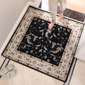 Paysota Embroidery Panda Carpet Beige Coffee Thin Square Mat Chair