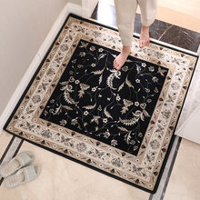 European Style Floor Square Carpet Door mats  Entrance Hall Living Room Entry Black Mat