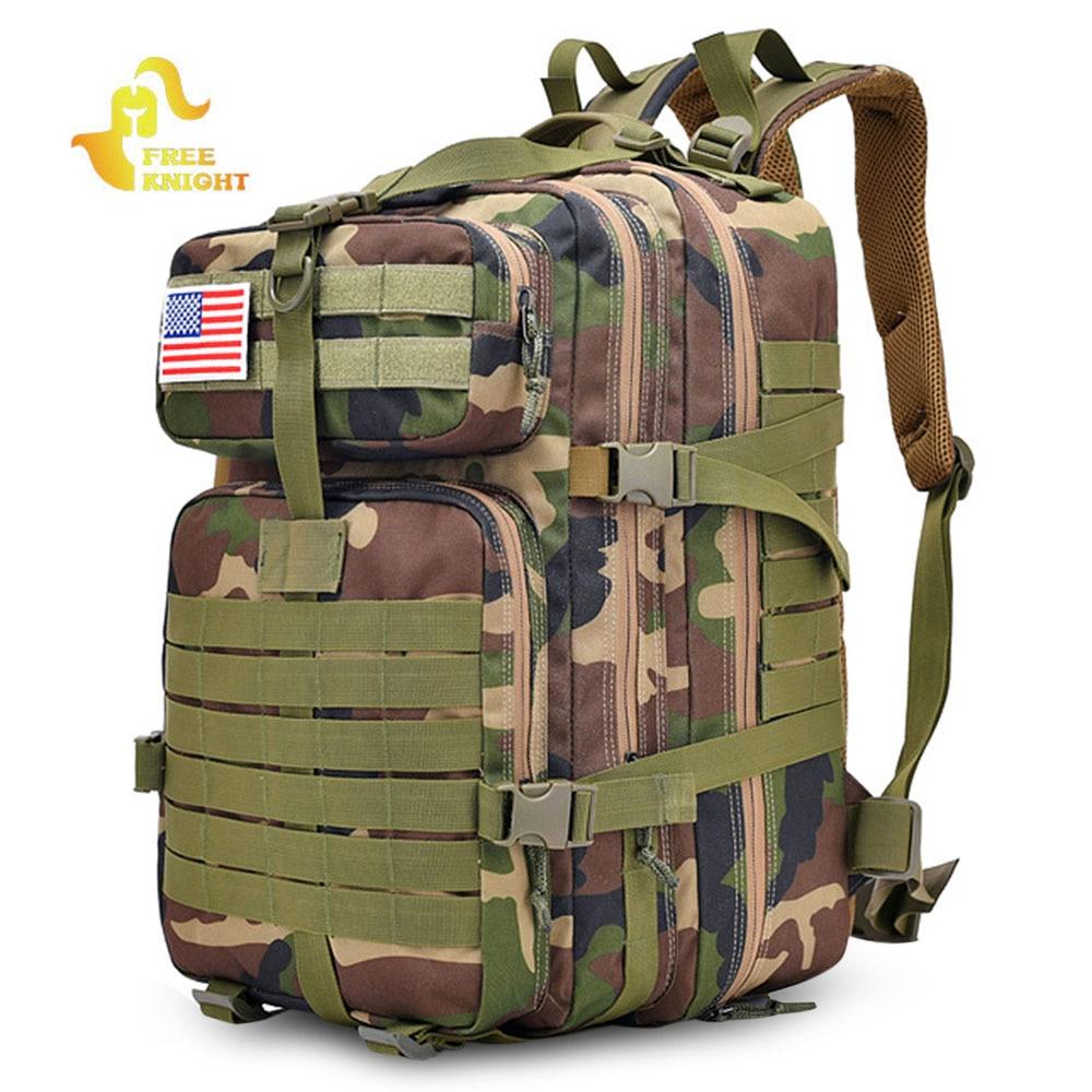 Free Knight 40L Military Tactical Backpack Assault Pack Bag Hiking Trekking Travel Camping Hunting Shoulder Bag