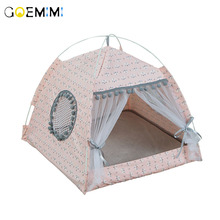 Breathable Pet Cat House Cave Beds Puppy Dog Sleeping Bag Cushion Summer Bamboo mat Design For Cats Bed