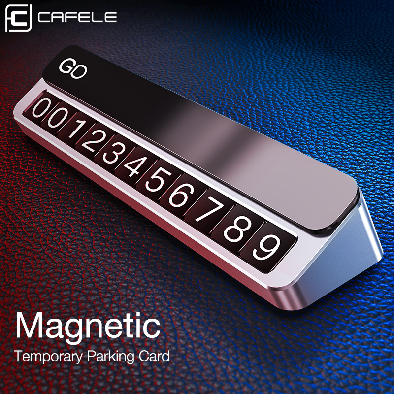 Cafele Temporary Parking Card Magnetic Mobile Phone Number Plate Parking Card for Automotive Interior Accessories
