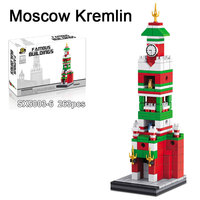 263CS World Famous Building Russian Moscow Kremlin Architecture Model Building Block Toy Russian Customed DIY Brick