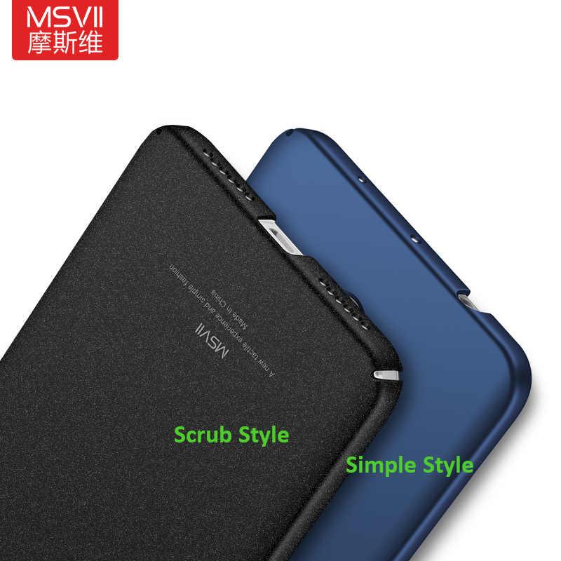 MSVII бренд роскошный цвет покрытие чехол для Xiaomi Redmi Note 4x (3g ram, 32G rom) Жесткий ПК простой/матовый чехол зазор