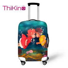 Thikin Ponyo Cartoon Travel Luggage Cover for Girls School Trunk Suitcase Protective Bag Protector Jacket