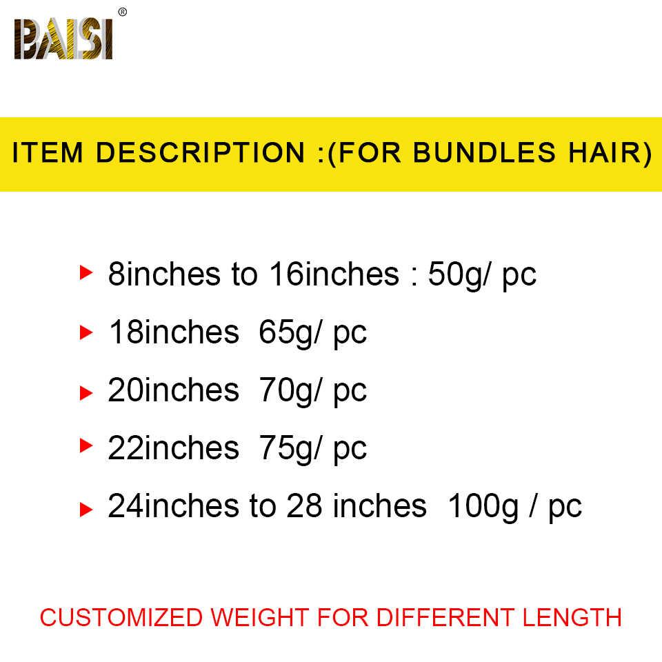 BAISI волосы необработанные 8а бразильские прямые девственные волосы 4 пучка с закрытием 100% человеческих волос