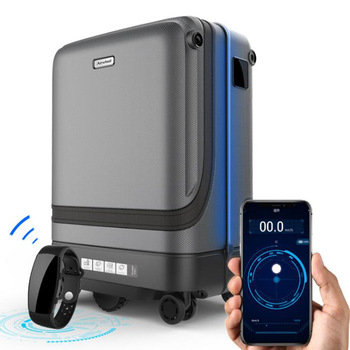 TRAVEL TALE 20″ Smart Rolling Luggage App Remote Control Following Suitcase Cabin Spinner Trolley Case On Wheel