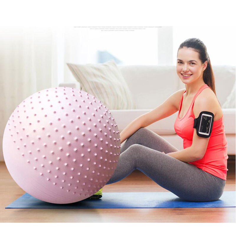 JUFIT PVC Fitness Ball,Thick Anti Burst Slim Shaping Body Balance Stability Training Exercise Style Yoga Ball with Foot Pump