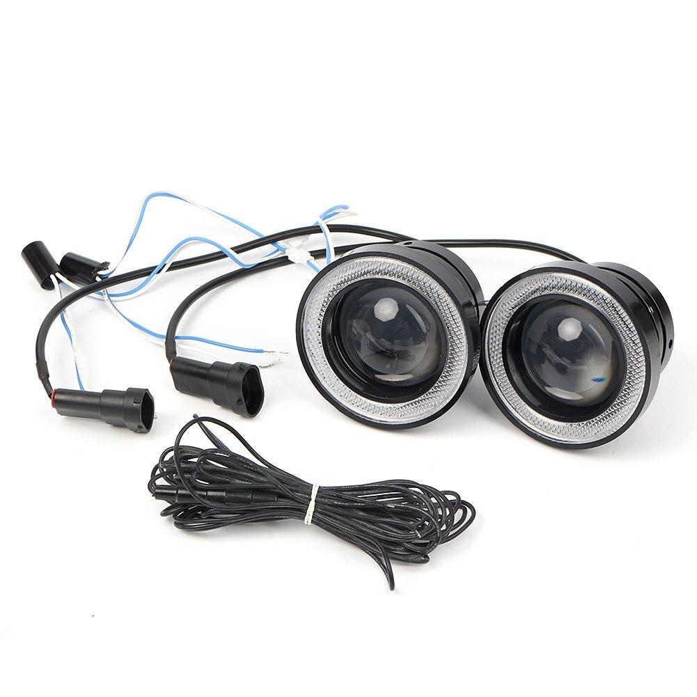Автомобильный светодиодный DRL Противотуманные фары проектор + Комплект «ангельские глазки» для Honda Civic 4DR 2016 2017 2018 - 5
