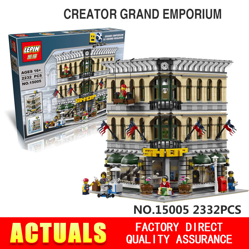 2016 font b LEPIN b font 15005 2182pcs City Creator Grand Emporium Model Building Kits Minifigures