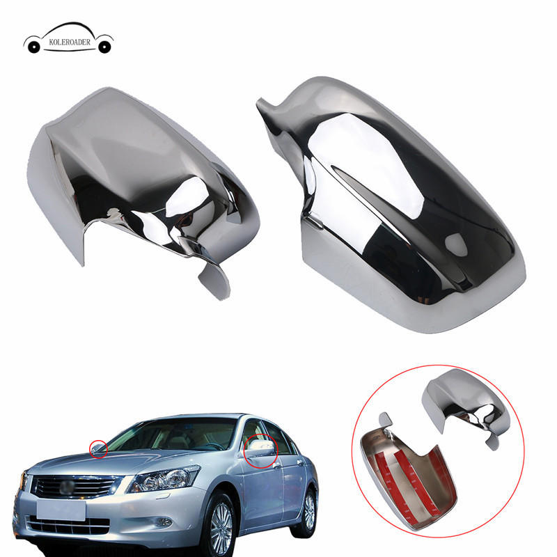 KOLEROADER For Honda Accord Door Side Rearview Full Mirror Cover Overlays 2008 2009 2010 2011 2012 2013 Car Styling // 2 pieces car styling door side rearview mirror cover trim abs for subaru forester 2009 2010 2011 2012
