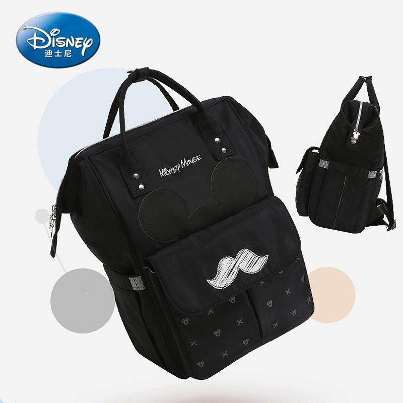 Image 5 - Disney Diaper Bag Backpack For Moms Baby Bag Maternity For Baby Care Nappy Bag Travel Stroller USB Heating Send Free 1Piar Hooks-in Diaper Bags from Mother & Kids