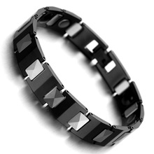 Tungsten Magnetic Hematite Mens Bracelet Fashion Health Care Link Chain Jewelry B1429