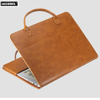 Jacodel PU Laptop Cover Laptop Cases for Macbook Air 11 12 13 Pro 13 15 Case for Apple Macbook Cover Bag A1465,a1534,A1466,A1502