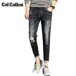 Brand clothing men jeans fashion new designer autumn hole jeans men winter casual ankle pencil pants.jpg 250x250