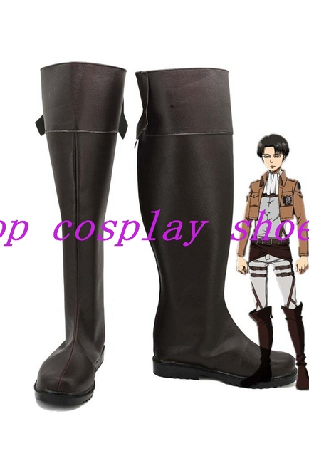Attack on Titan Shingeki No Kyojin Anime Cosplay Shoes Boots Custom Made