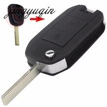 Jingyuqin для Citroen Peugeot 307 107 207 407 изменения удаленного входа брелок В виде ракушки случае HU83 лезвие 2 Пуговицы