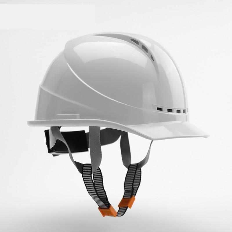 6 ألوان خوذة أمان قبعة العمل عالية القوة ABS المواد الهندسية الخوذات قبعة صلبة موقع البناء واقية قبعة صلبة