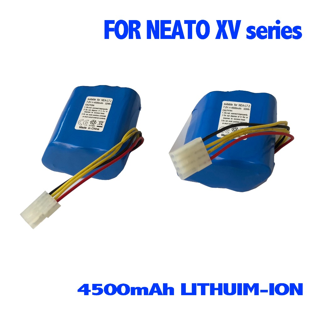 4500mAh Replacement Lithium-ion Li-ion battery for Neato XV-11 12 14 21 24 Signature Pro Vacuum Cleaner with HEPA/Filter hepa filter replacement for neato xv 15 xv 21 xv signature vacuum cleaning robot
