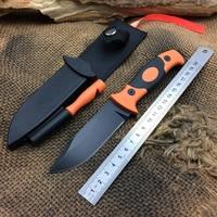carbon fiber +Rubber handle Fixed Blade knife cold steel Tactical huntingknive camping survival Pocket Knife tool SDIYABEIZ