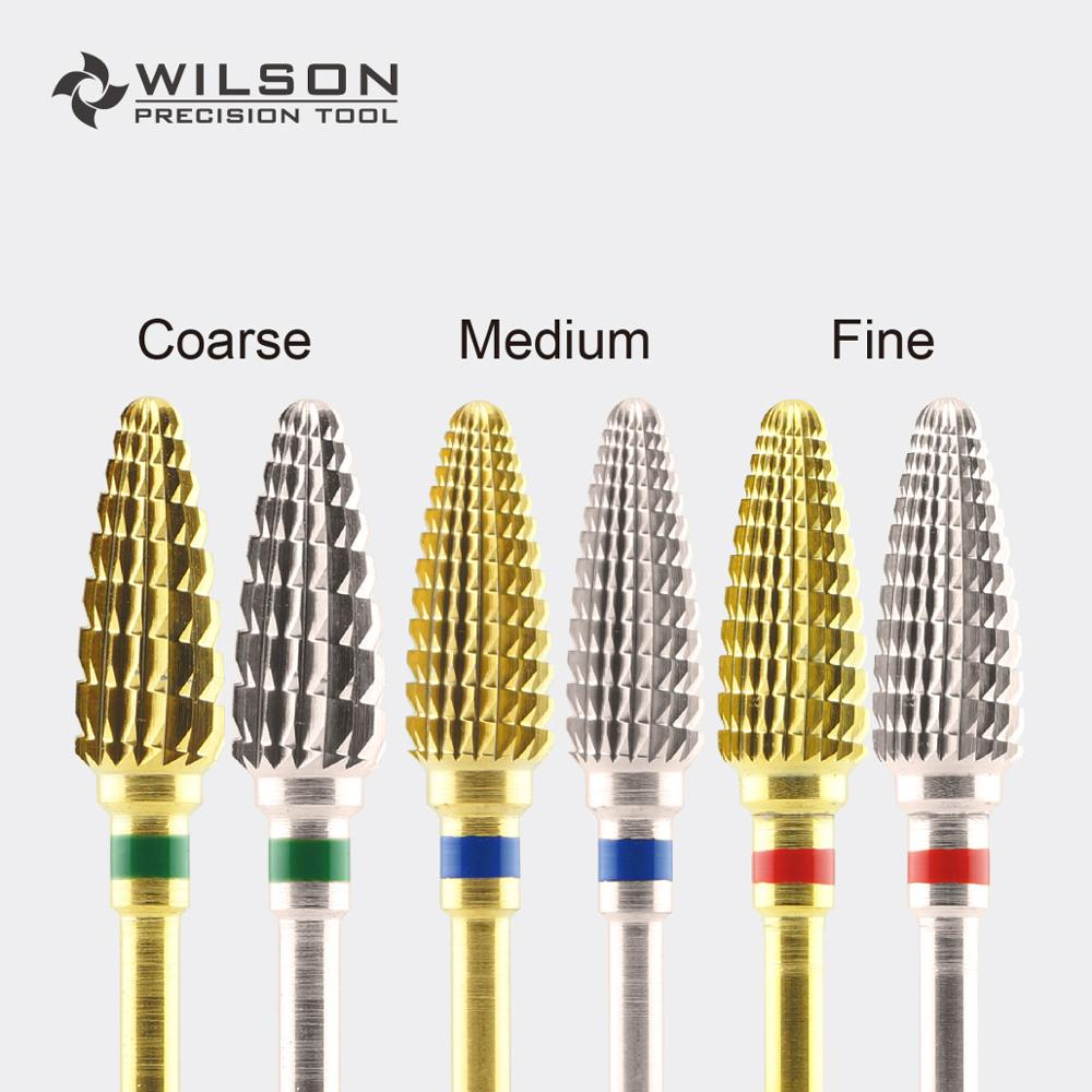 Large Cone - Gold/Silver - WILSON Carbide Nail Drill Bits Electric Manicure Drill & AccessoryLarge Cone - Gold/Silver - WILSON Carbide Nail Drill Bits Electric Manicure Drill & Accessory